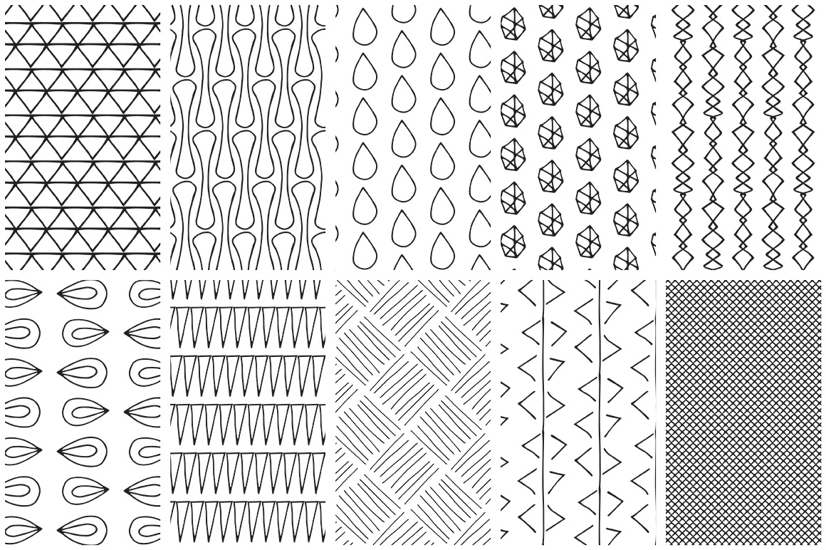 Simple Line Handdrawn Patterns example image 7