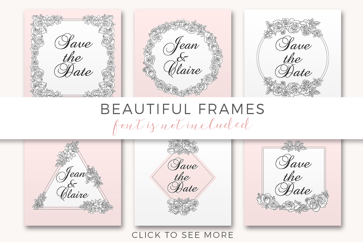 Ink Roses - Elegant roses and frames example image 11