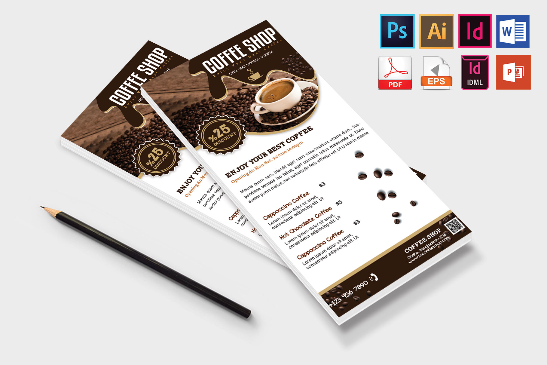 Rack Card | Coffee Shop DL Flyer Vol-03 example image 4