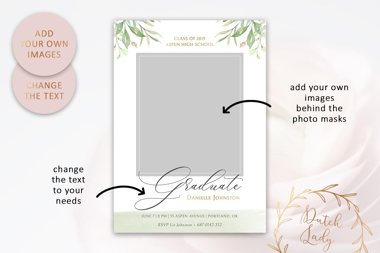 PSD Graduation Announcement Card Template - Design #1 example image 2