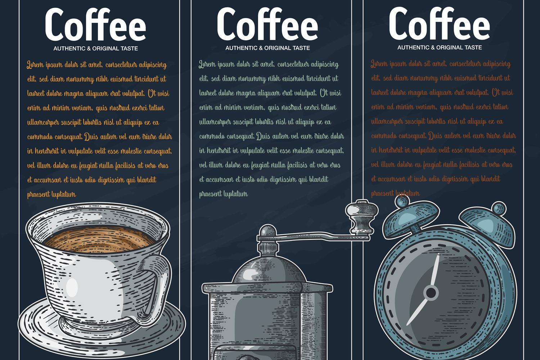15 designs - Coffee restaurant brochure vector, coffee shop example image 15
