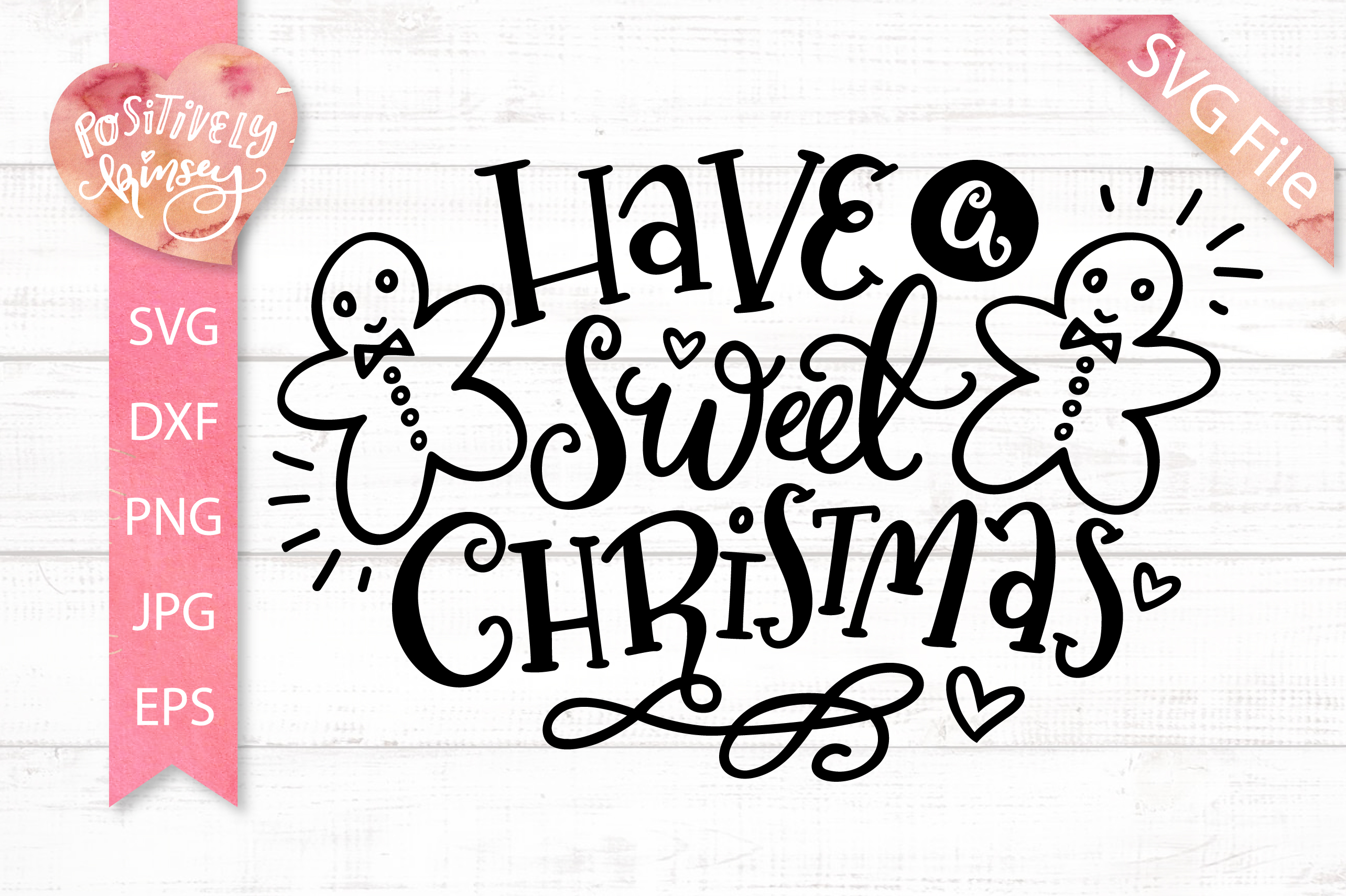 Have a Sweet Christmas SVG DXF PNG EPS Christmas Cookie Svg example image 1
