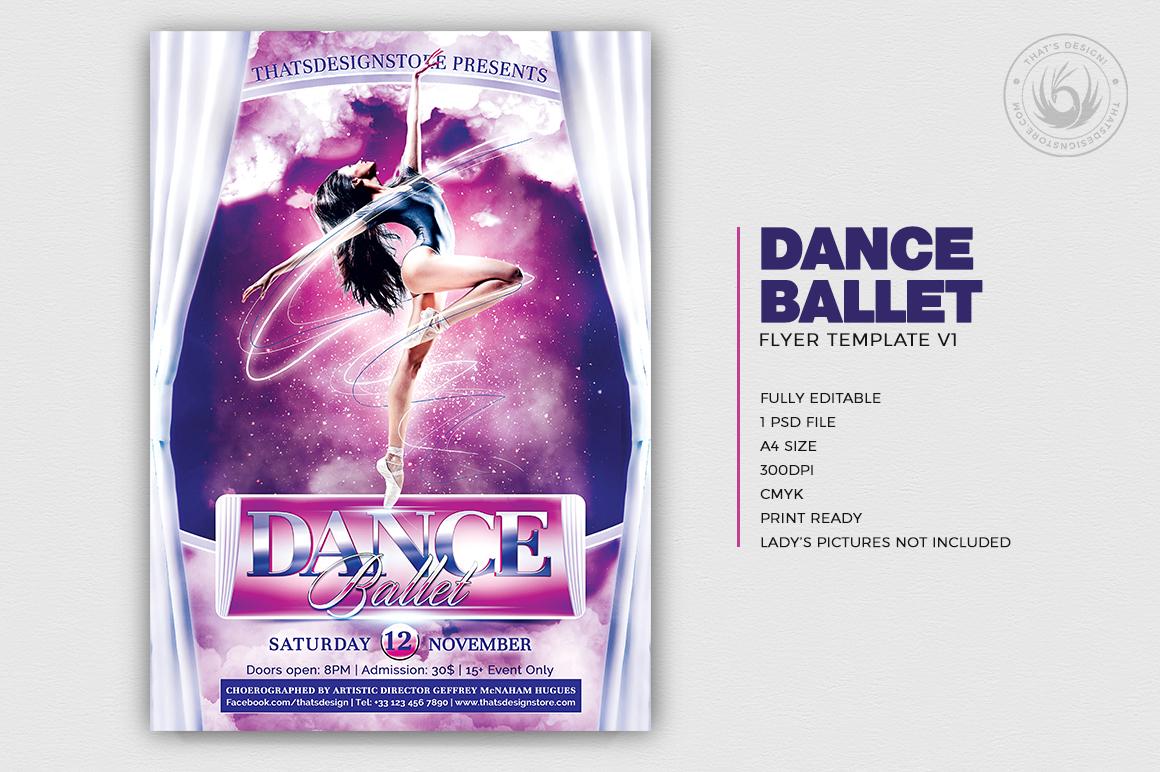 Dance Ballet Flyer Template V1 example image 2