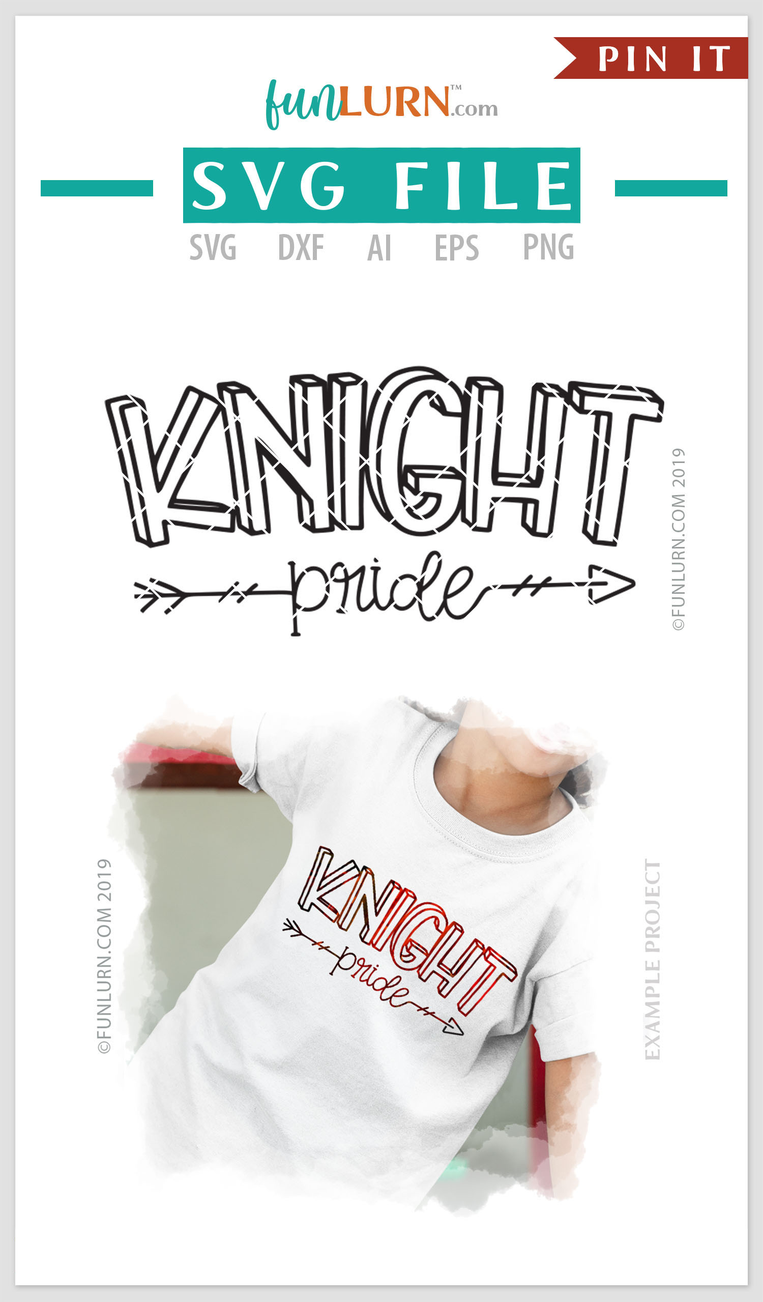 Knight Pride Team SVG Cut File example image 4