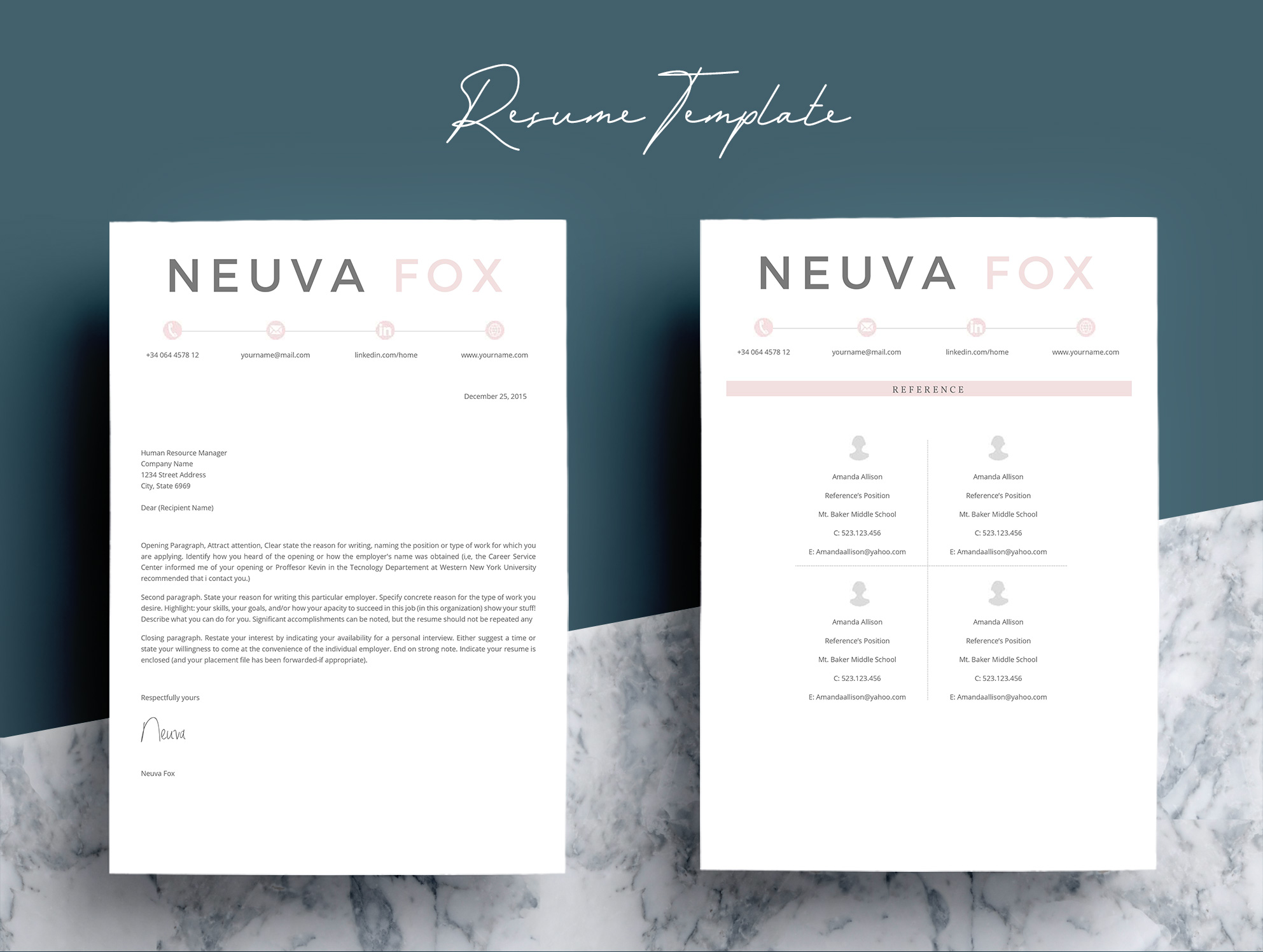 Creative  Resume Template 4 Pages example image 6