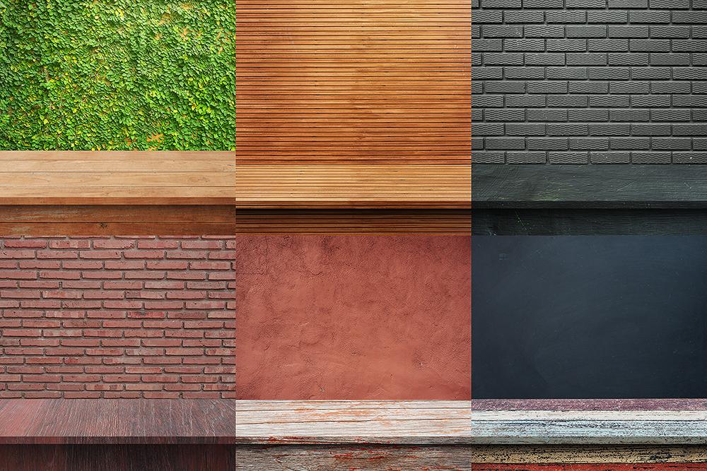 100 Realistic Shelves on Wall. Set 1 example image 9