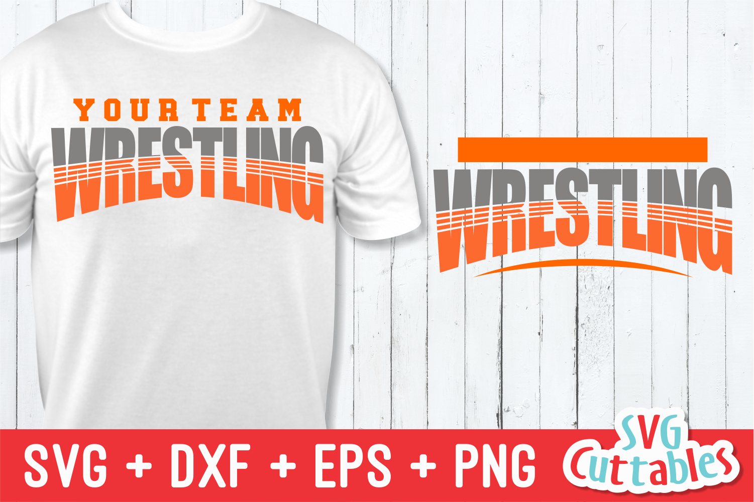 Wrestling Template 001| SVG Cut File example image 1