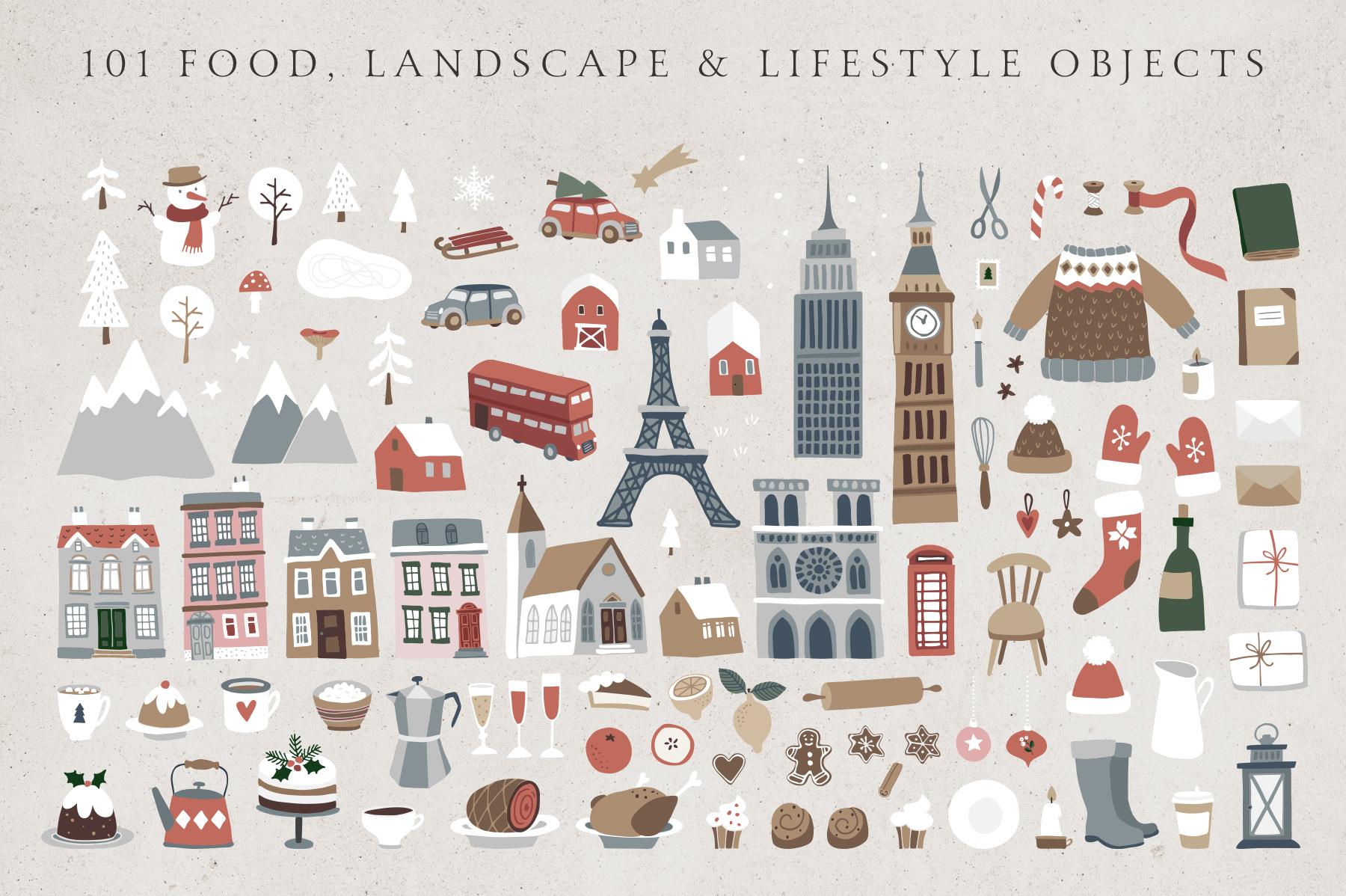 Charming Christmas card & map creator example image 3