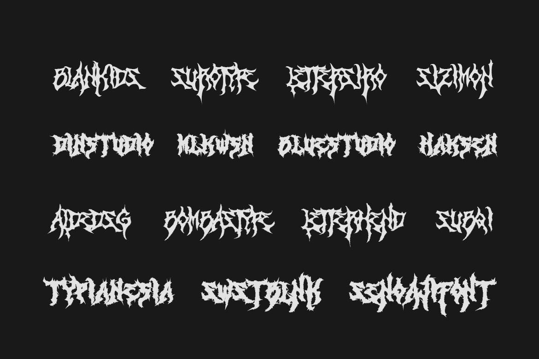 Monumental Purgatory - 3 Awesome Deathmetal Fonts example image 7