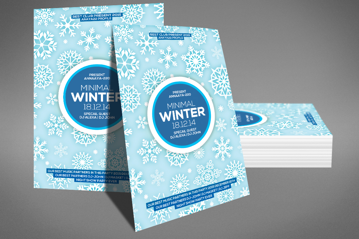 Minimal Winter Party Flyer example image 3