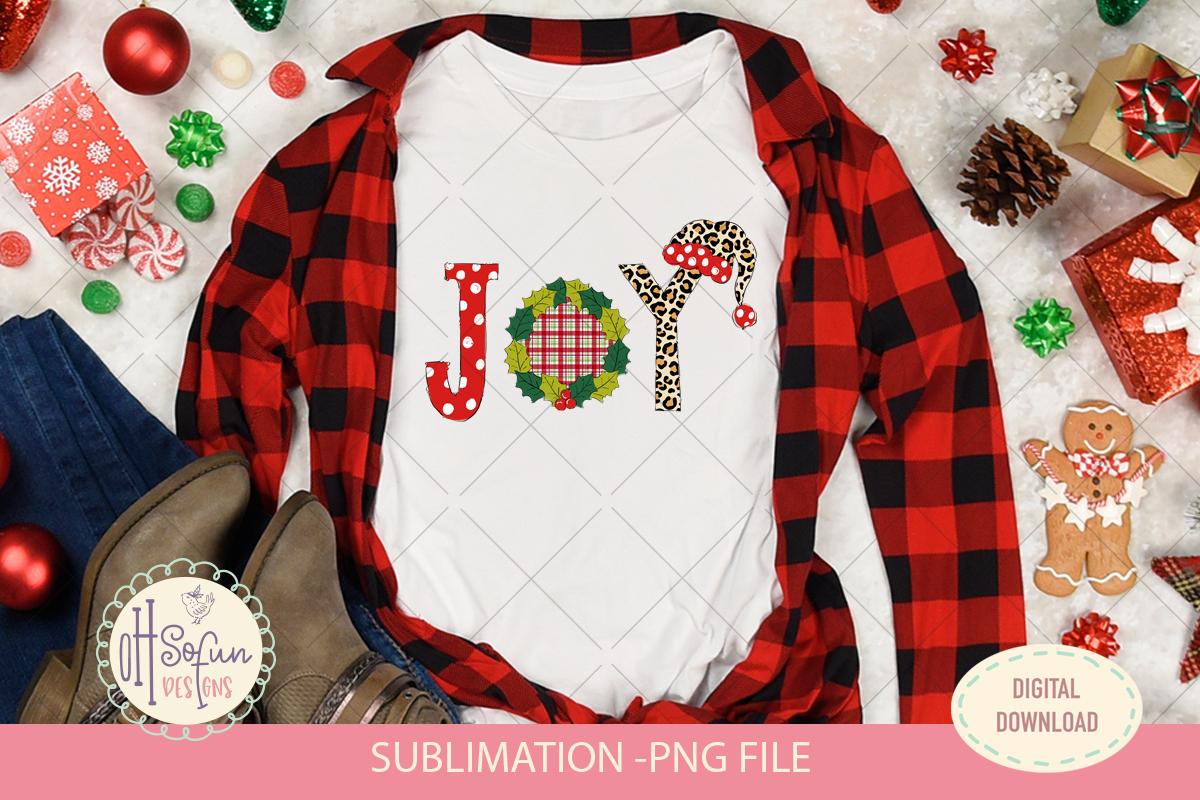 Joy christmas sublimation, chrismas doodle polka dot example image 2