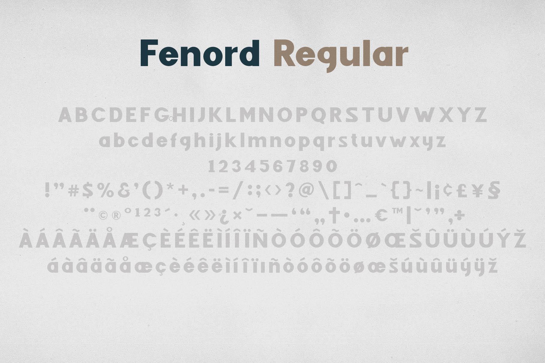 Fenord - Old School Sans Serif example image 3