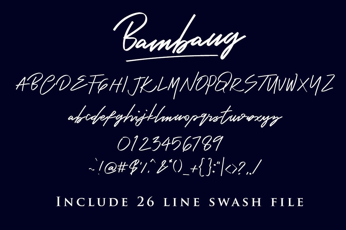 Bambang - Signature Font example image 4