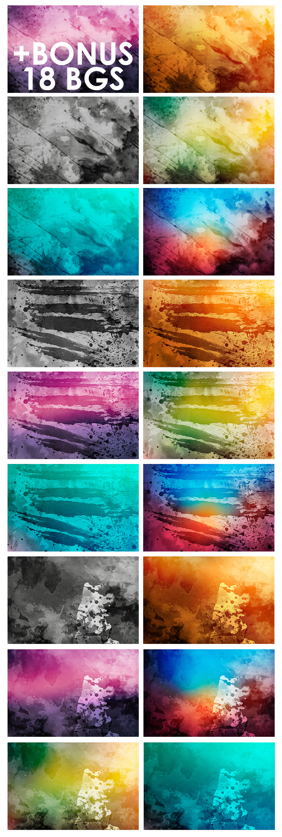 Watercolor Backgrounds 2 & Bonus example image 7