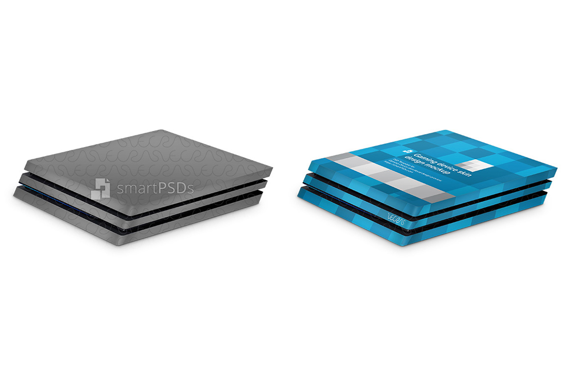 PS4 Pro Console Skin Design Template- 3 Views example image 2