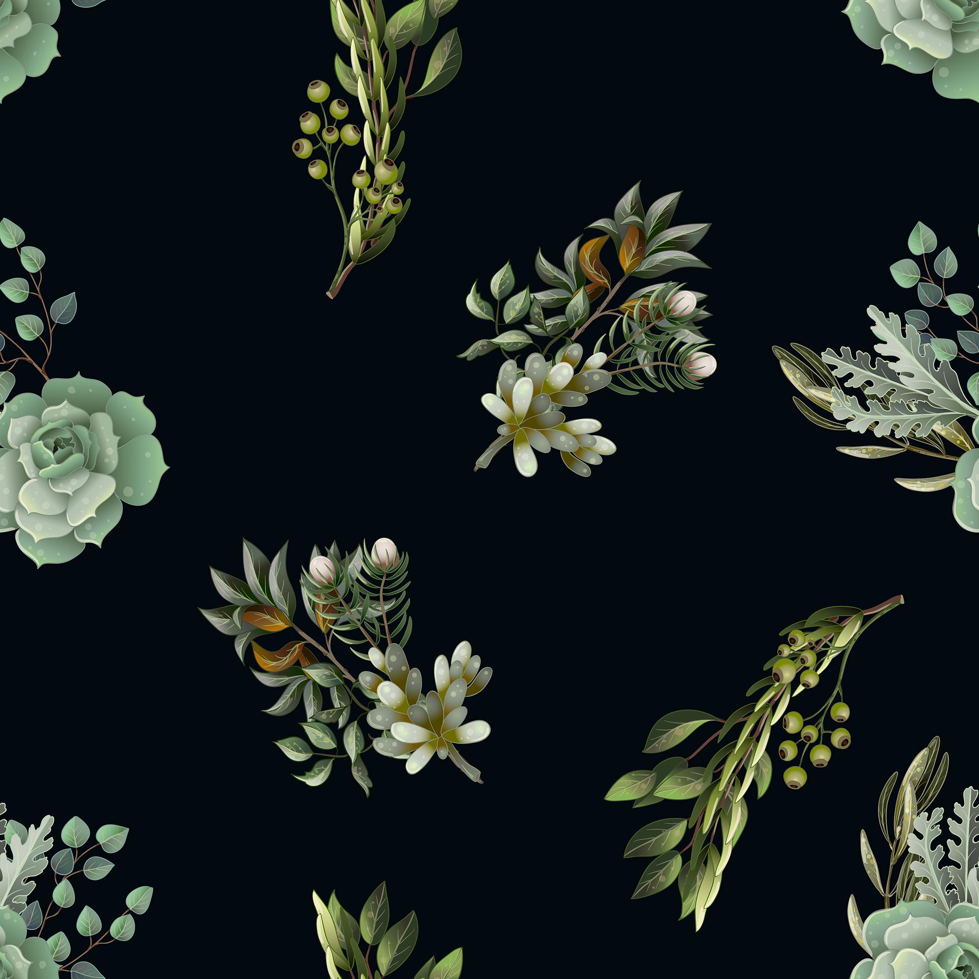 Wedding greenery invitation, patterns and isolated elements example image 8