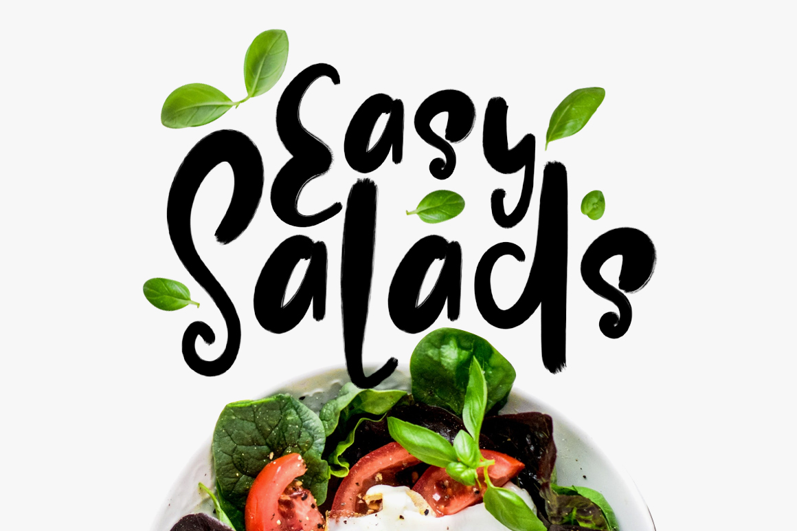 Easy Salads Typeface example image 1