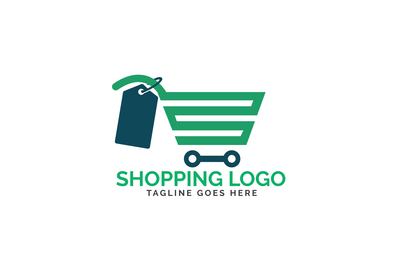 Shopping cart logo design. example image 1