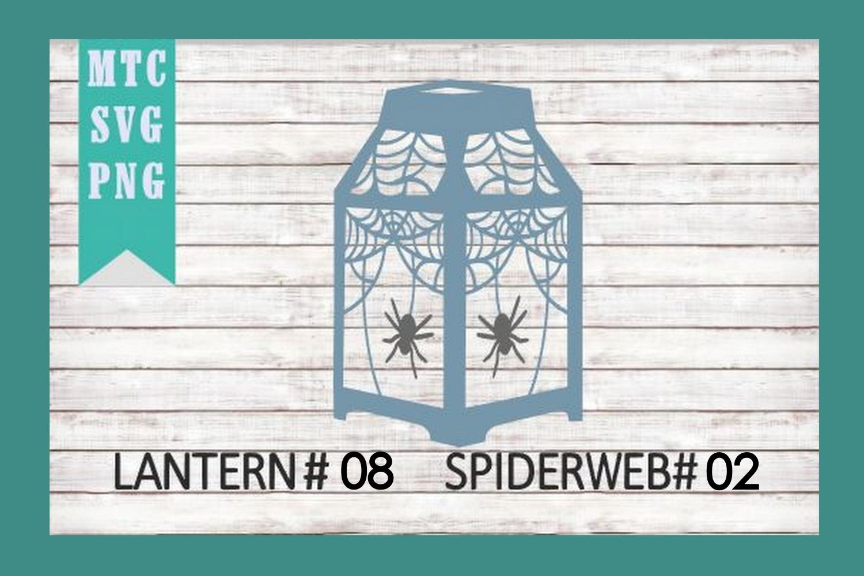 Halloween Lantern #08 Spiderweb #02 SVG Cut File example image 2