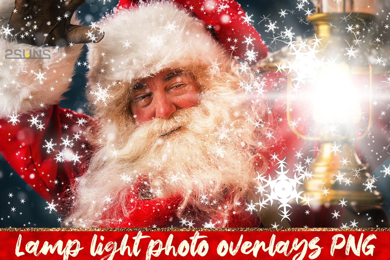 30 Christmas Photo overlays, photoshop overlays, Lamp light example image 1