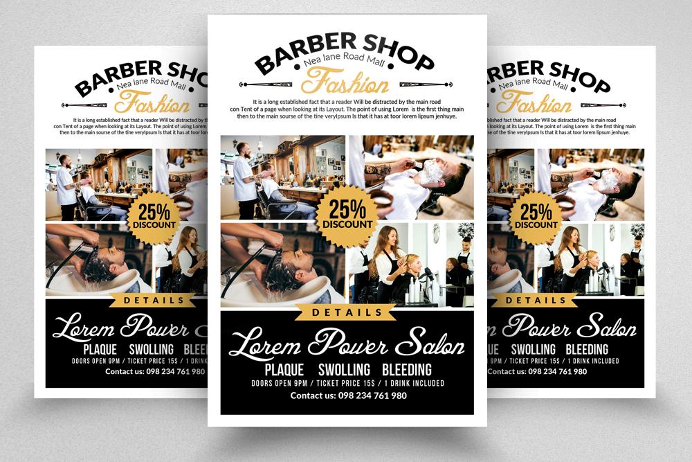 barber shop psd flyer template. Black Bedroom Furniture Sets. Home Design Ideas