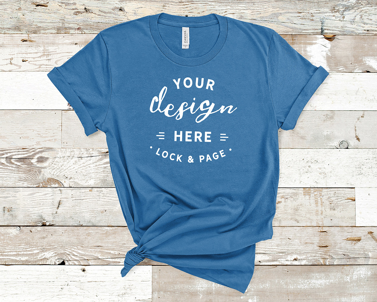 Bella Canvas 3001 Mockup T-Shirt Bundle All Colors On Wood example image 12
