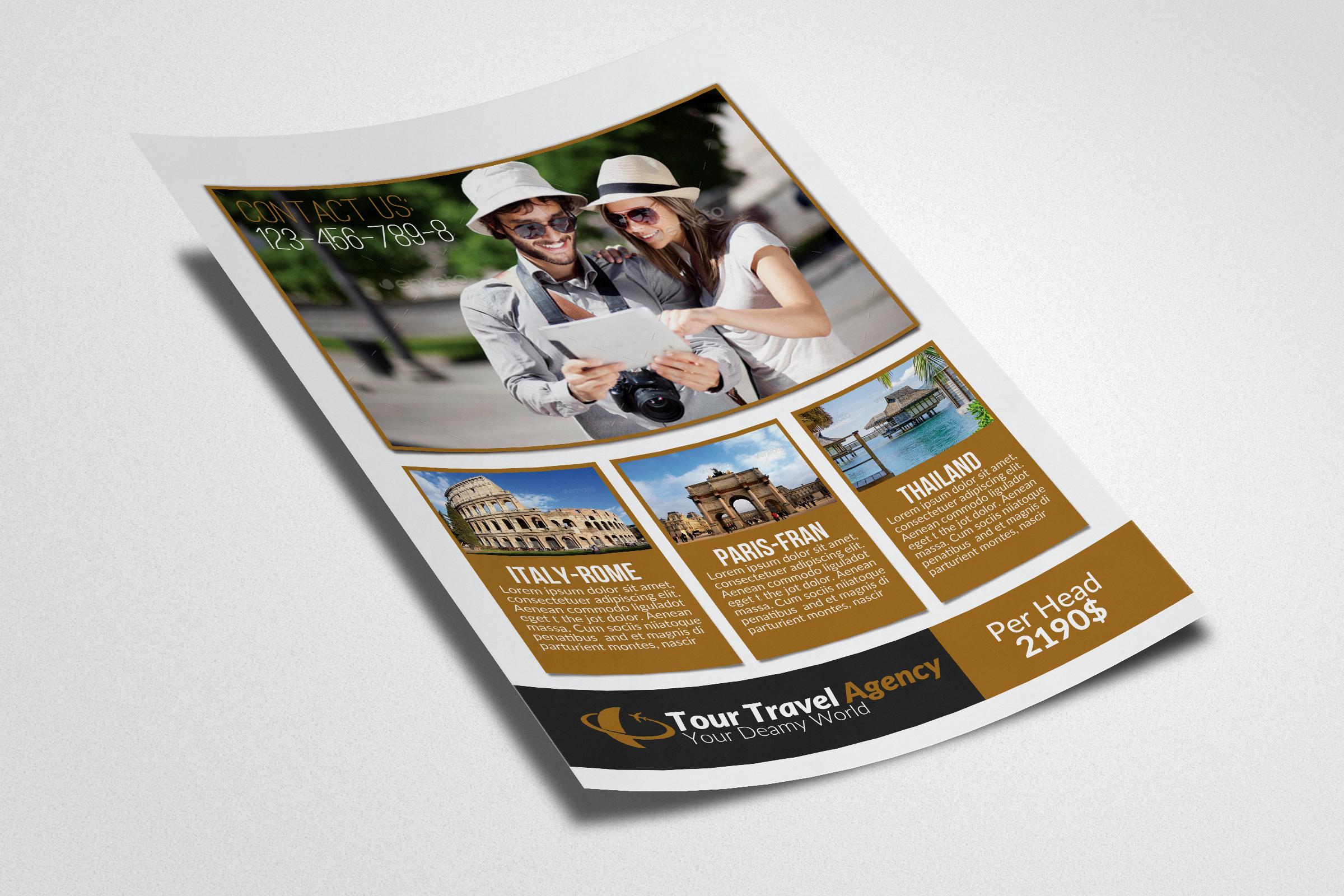 Tour & Tourism Flyer Psd example image 3