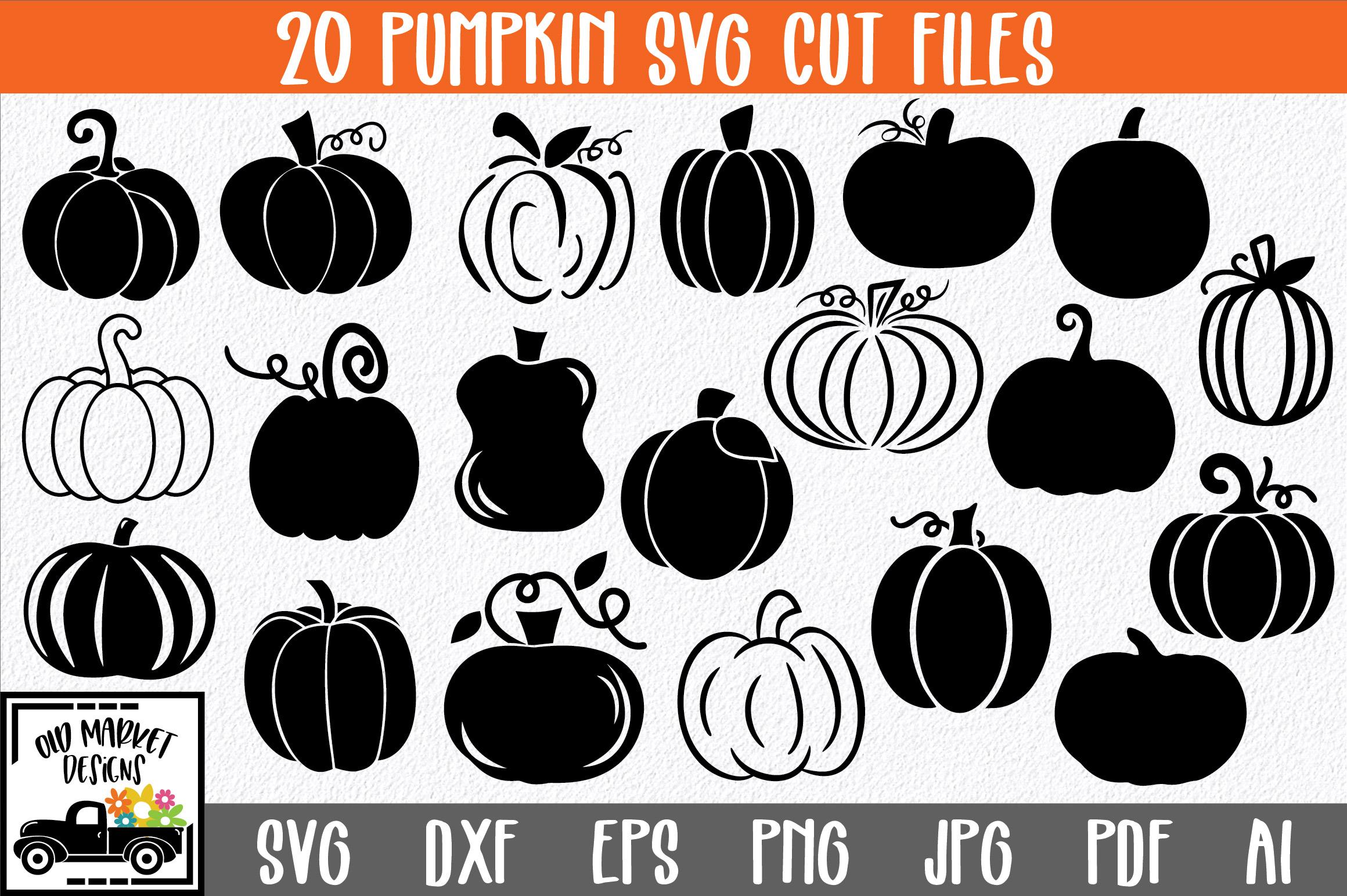 Pumpkins SVG Cut File Bundle example image 1