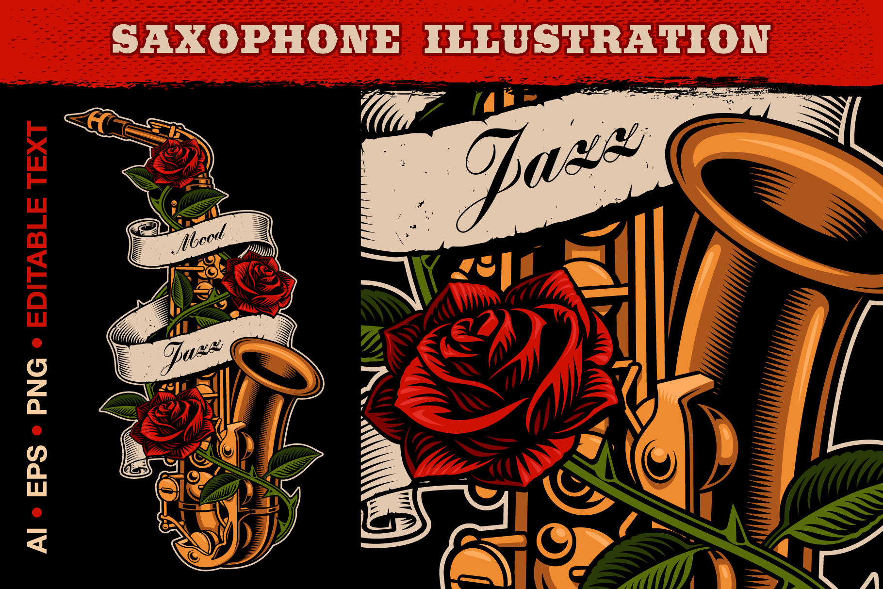 Saxophone Illustration example image 1