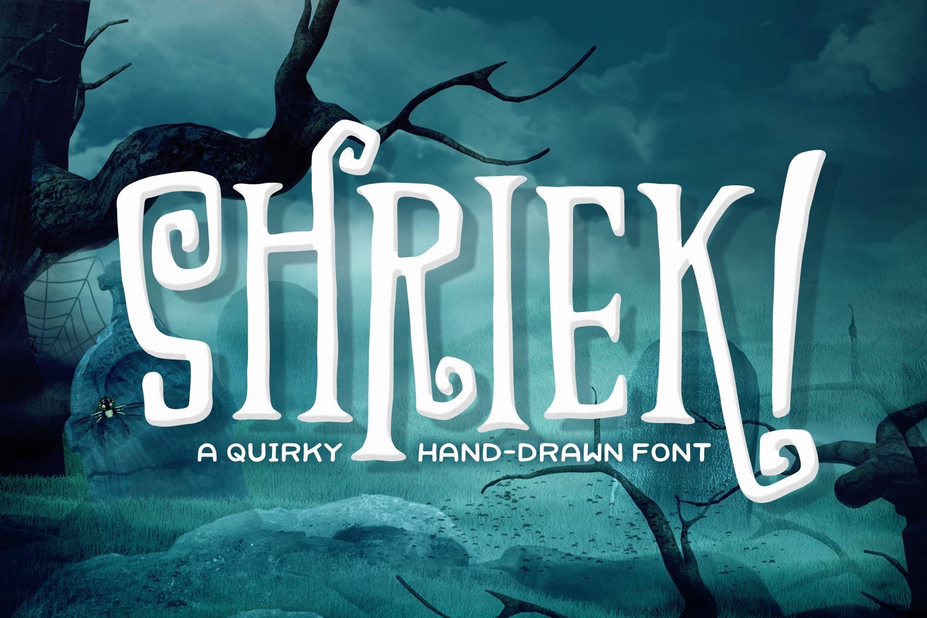 Shriek! Font example image 1