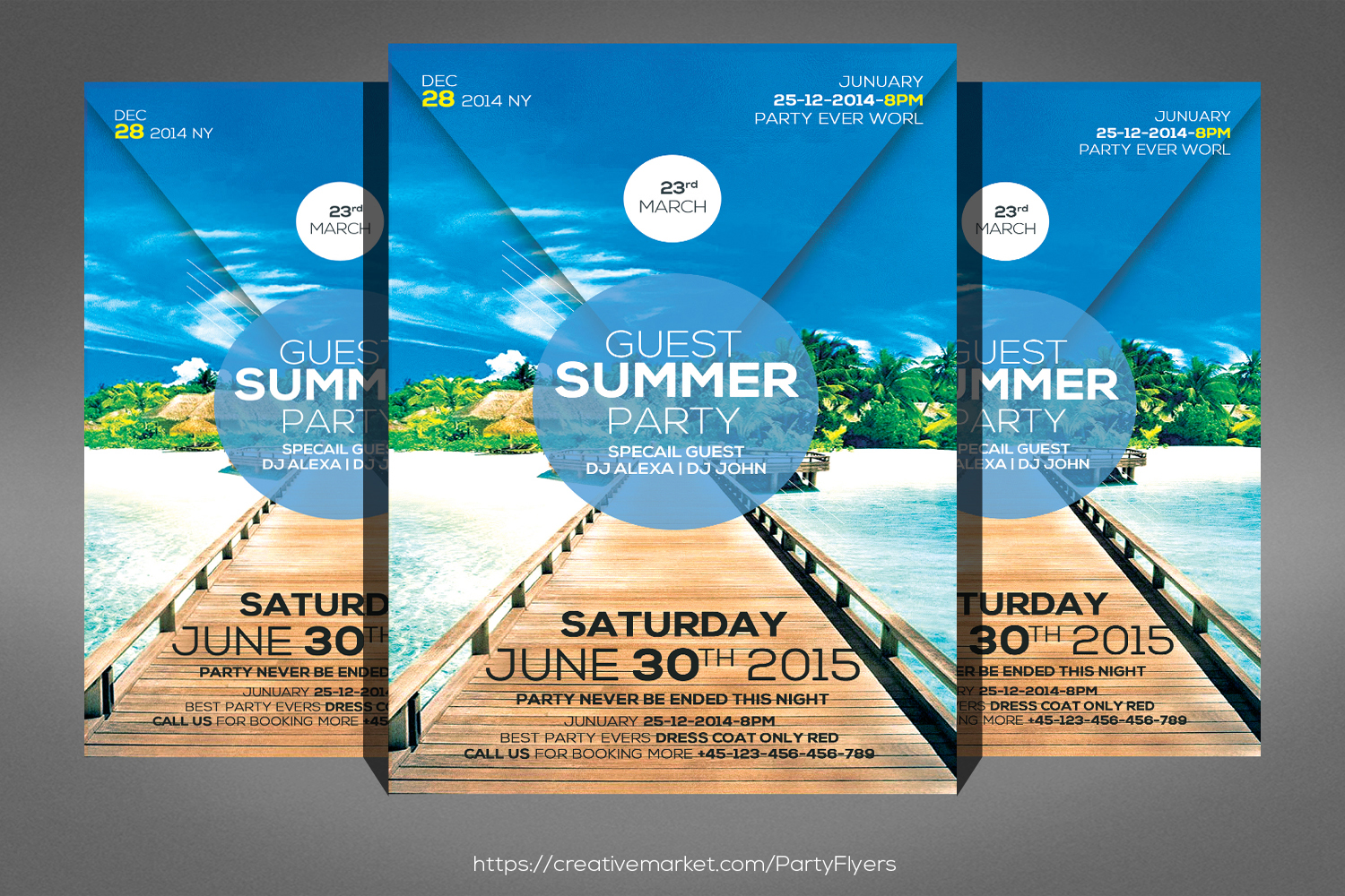 Bright Summer Party Flyer example image 1
