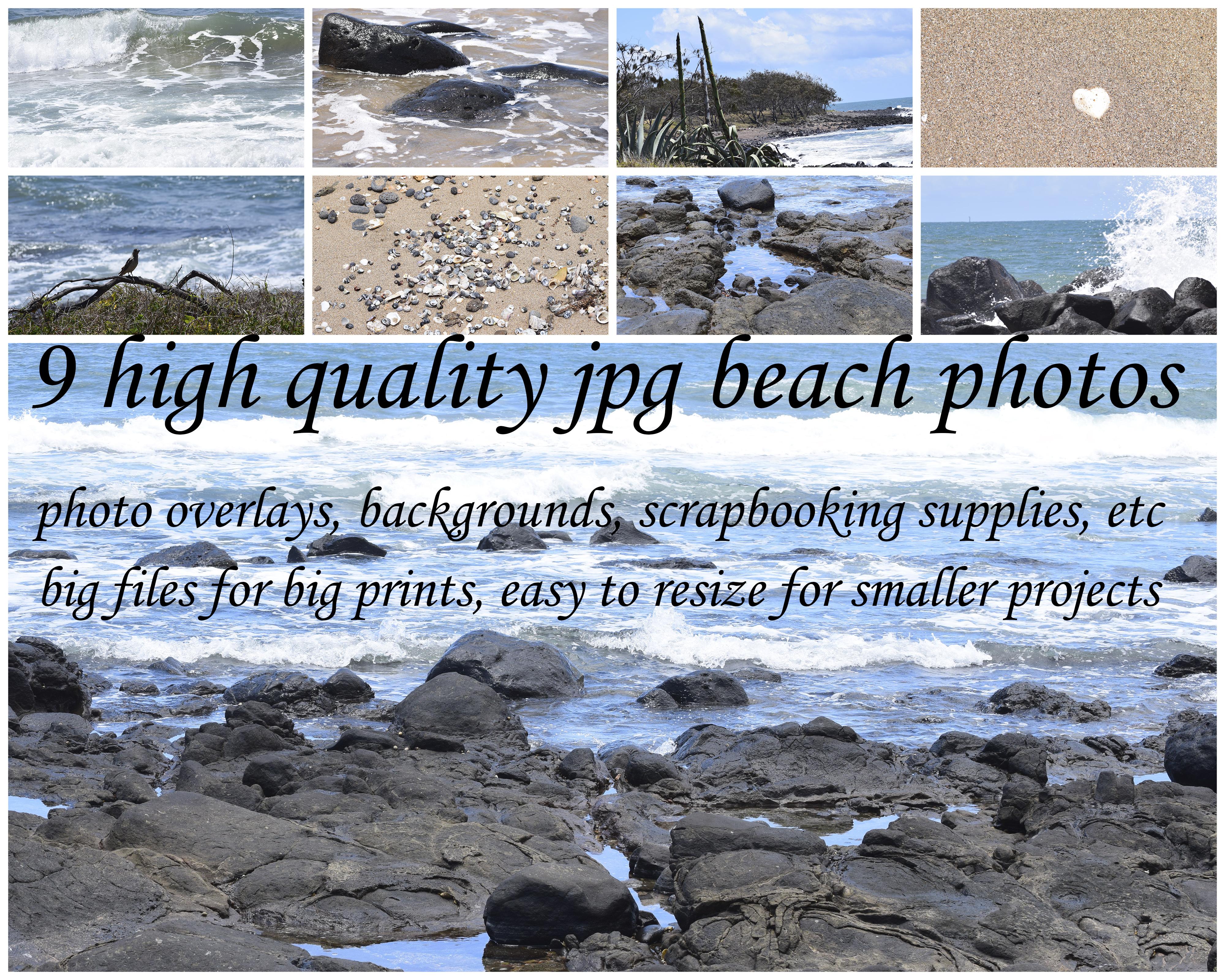 9 Colour Beach Photos example image 1