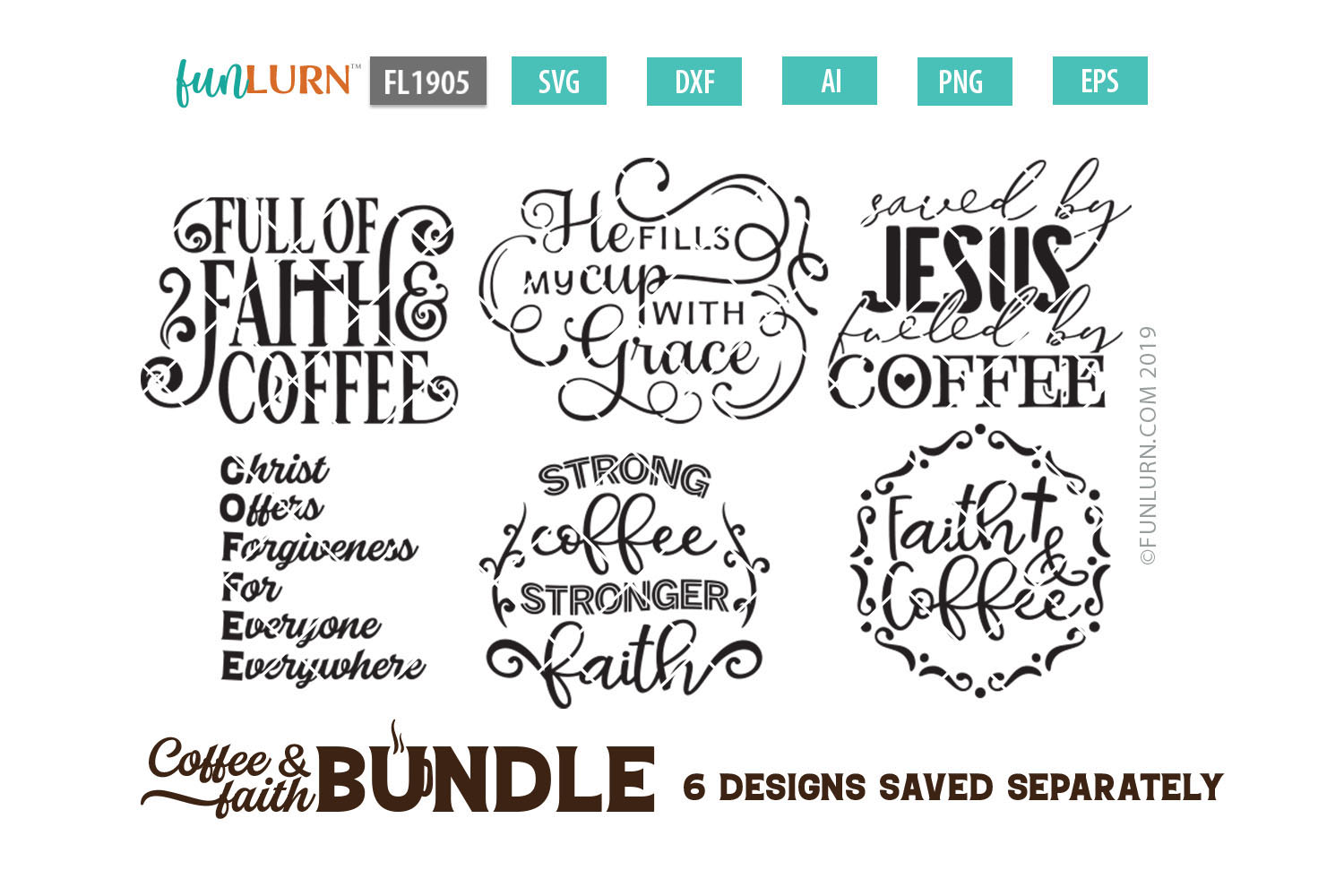 Coffee and Faith SVG Bundle example image 1