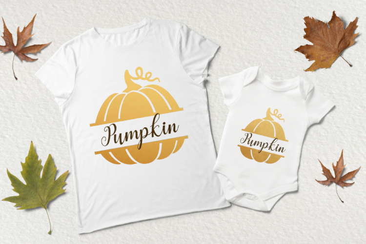 Pumpkin monogram. Thanksgiving digital clipart example image 4