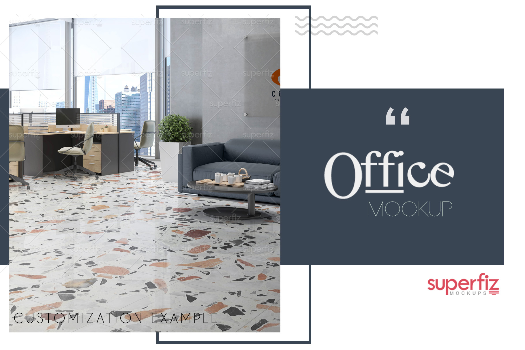 Blank Floor Commercial PSD Mockup SM76 example image 2