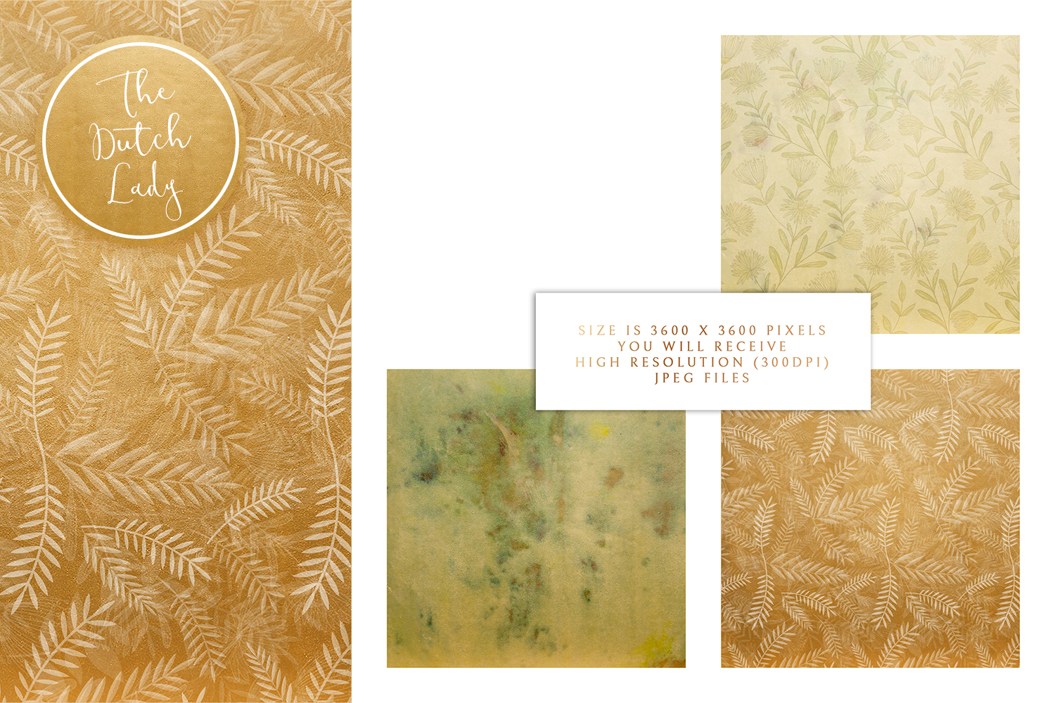 Floral Backgrounds & Paper Designs - Leonora example image 3