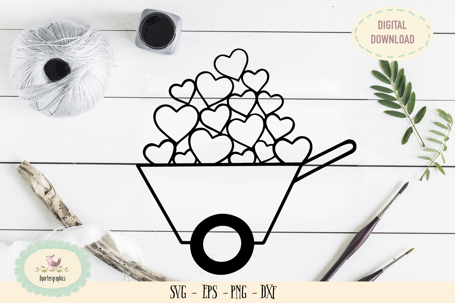 Heart gift truck SVG PNG wedding truck example image 1