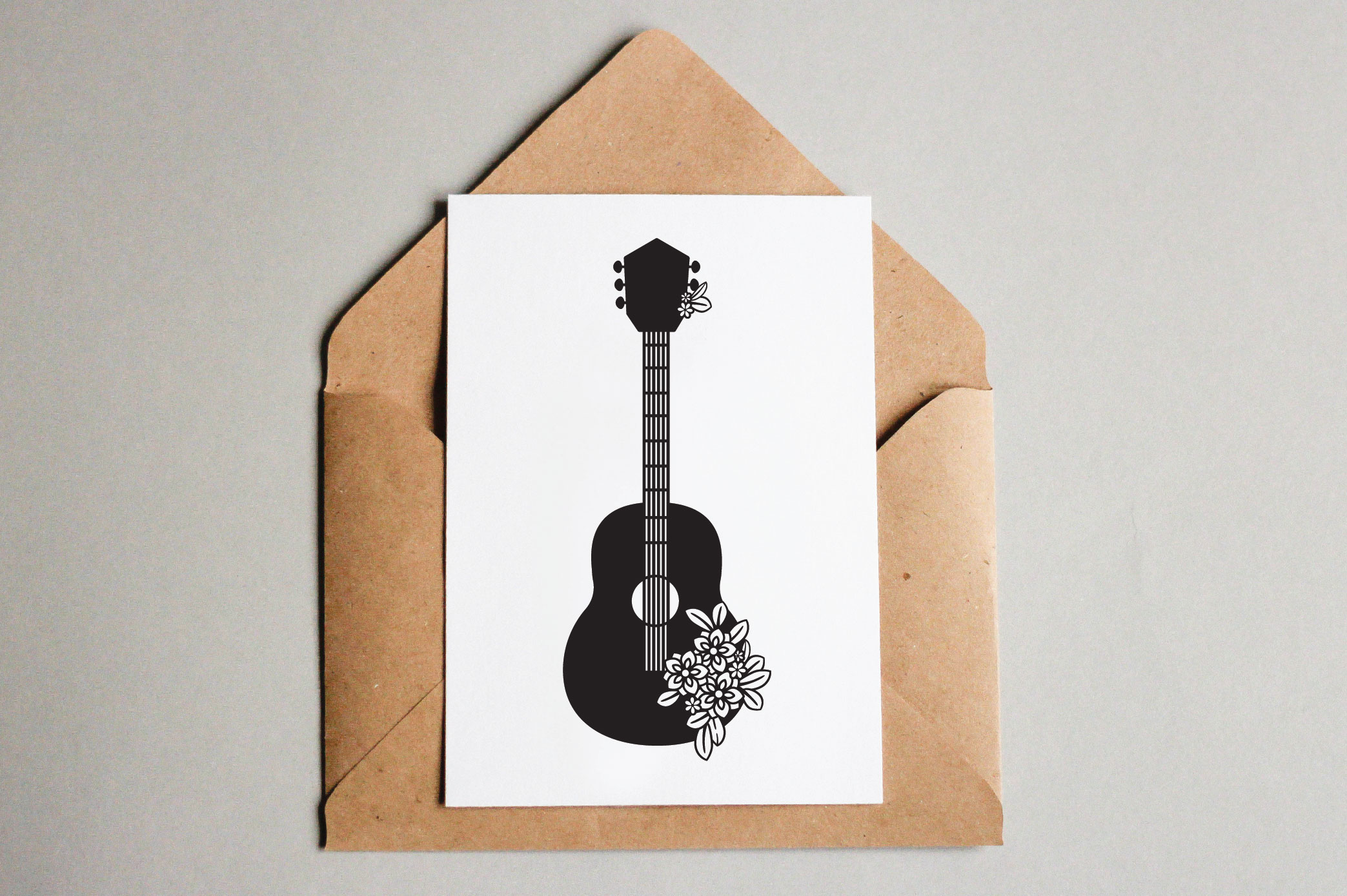 Floral Guitars SVG example image 6
