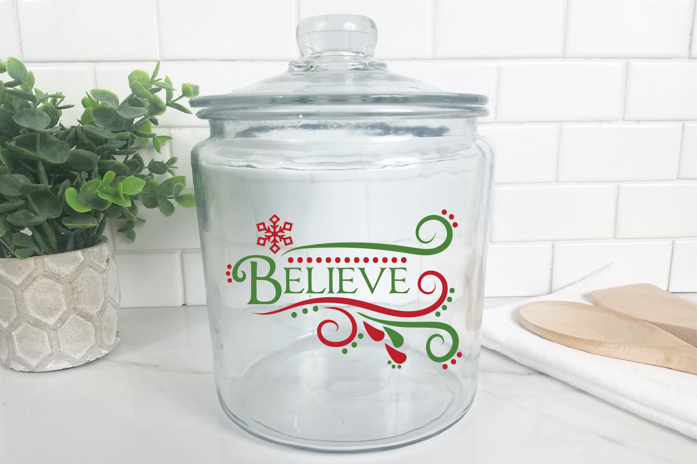 Believe SVG Cut File - Christmas SVG - DXF - PNG - EPS example image 9