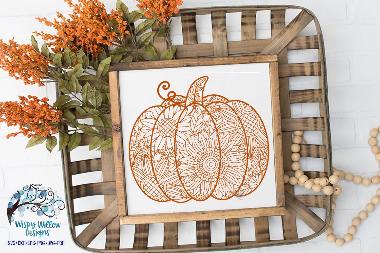 Pumpkin Zentangle SVG | Pumpkin Mandala SVG | Fall SVG example image 2