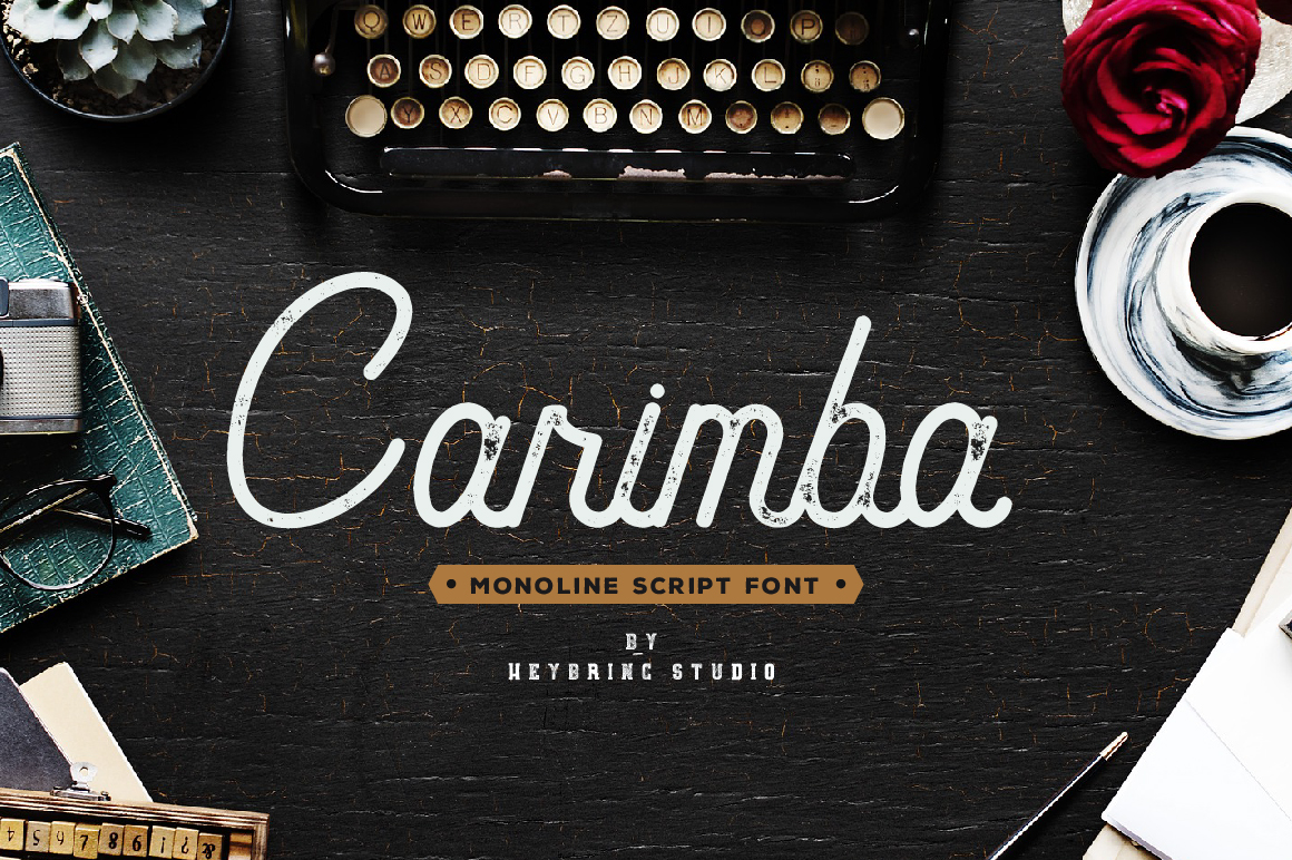 Carimba - Monoline Script example image 1