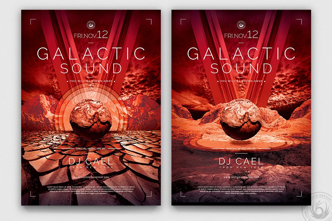Galactic Sound Flyer Bundle example image 8