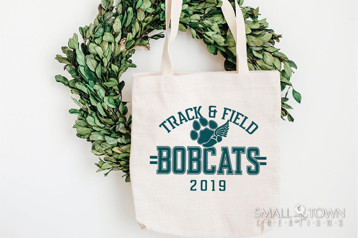 Bobcats Track and Field, bobcat mascot, PRINT, CUT, DESIGN example image 4