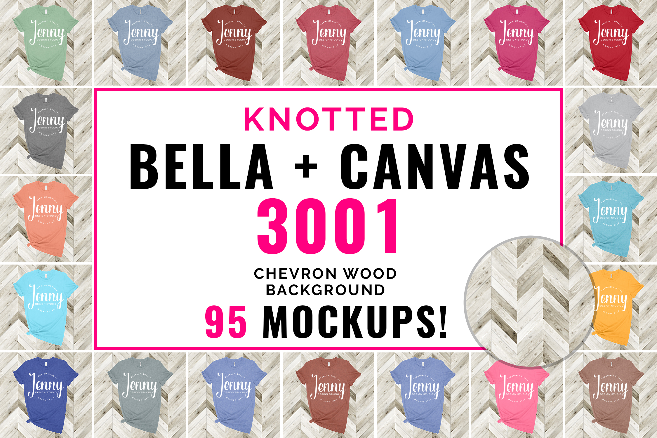 Bella Canvas 3001 Mockup Bundle, Knotted Tshirt Mockup example image 1