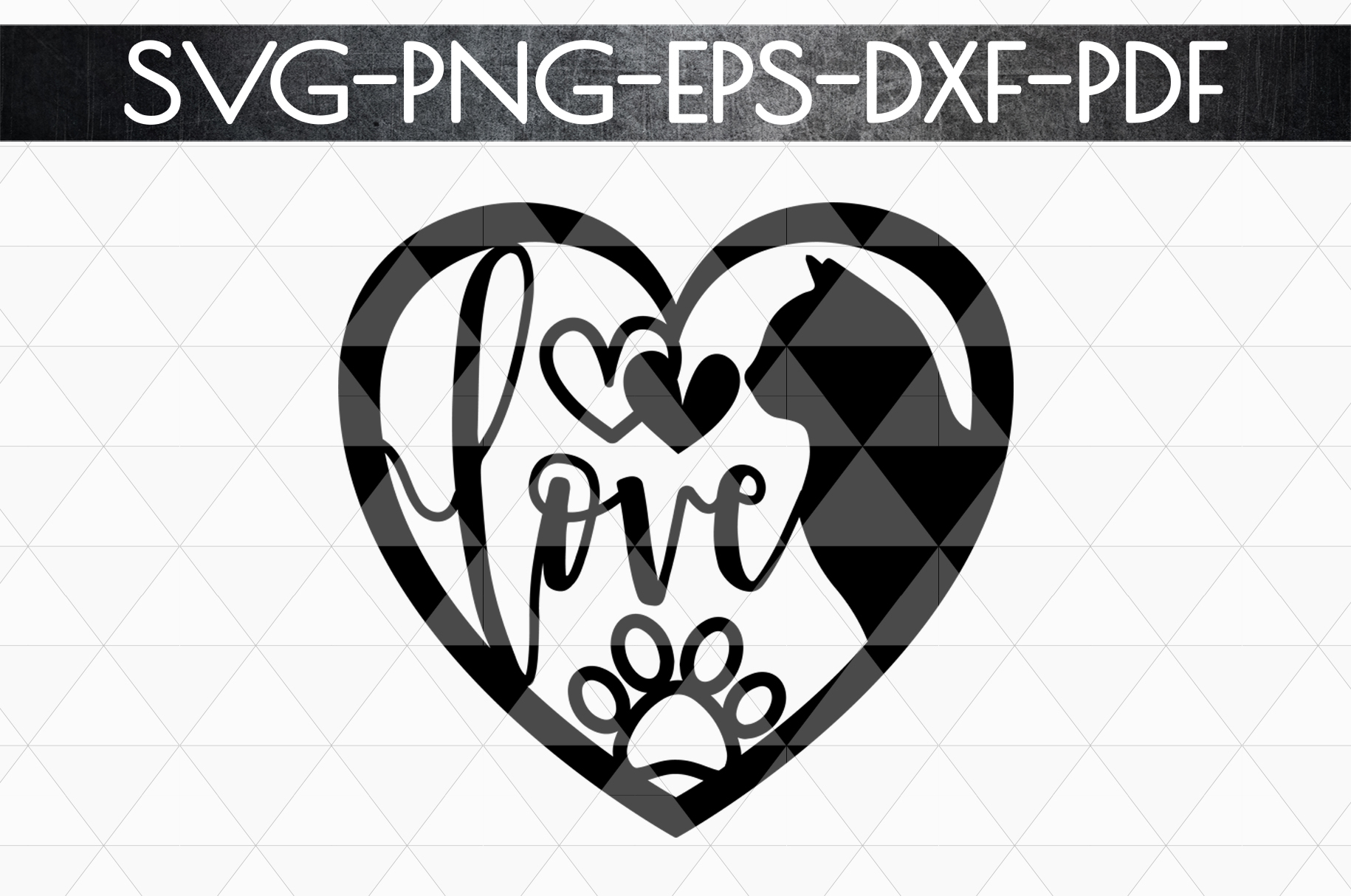 Cat Lover Sign Papercut Template, Cat House Decor, SVG, DXF example image 4