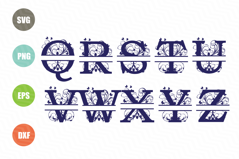 Split Letters A-Z SVG, Split Numbers 0-9 SVG example image 4