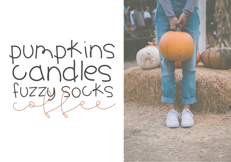 Pumpkin Season - A Cute Handwritten Font example image 6