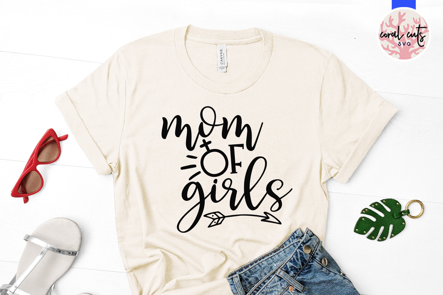Mother of girls - Mother SVG EPS DXF PNG Cutting File example image 2