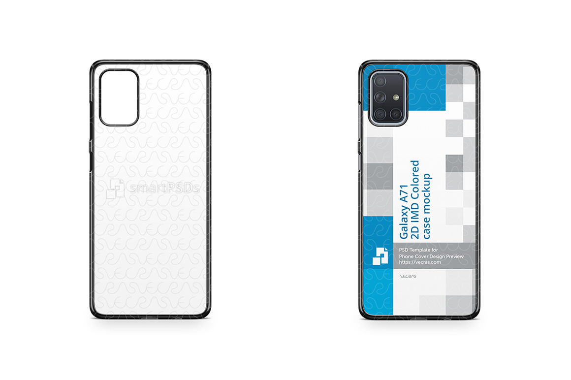 Galaxy A71 2019 2d PC Colored Case Design Mockup example image 1