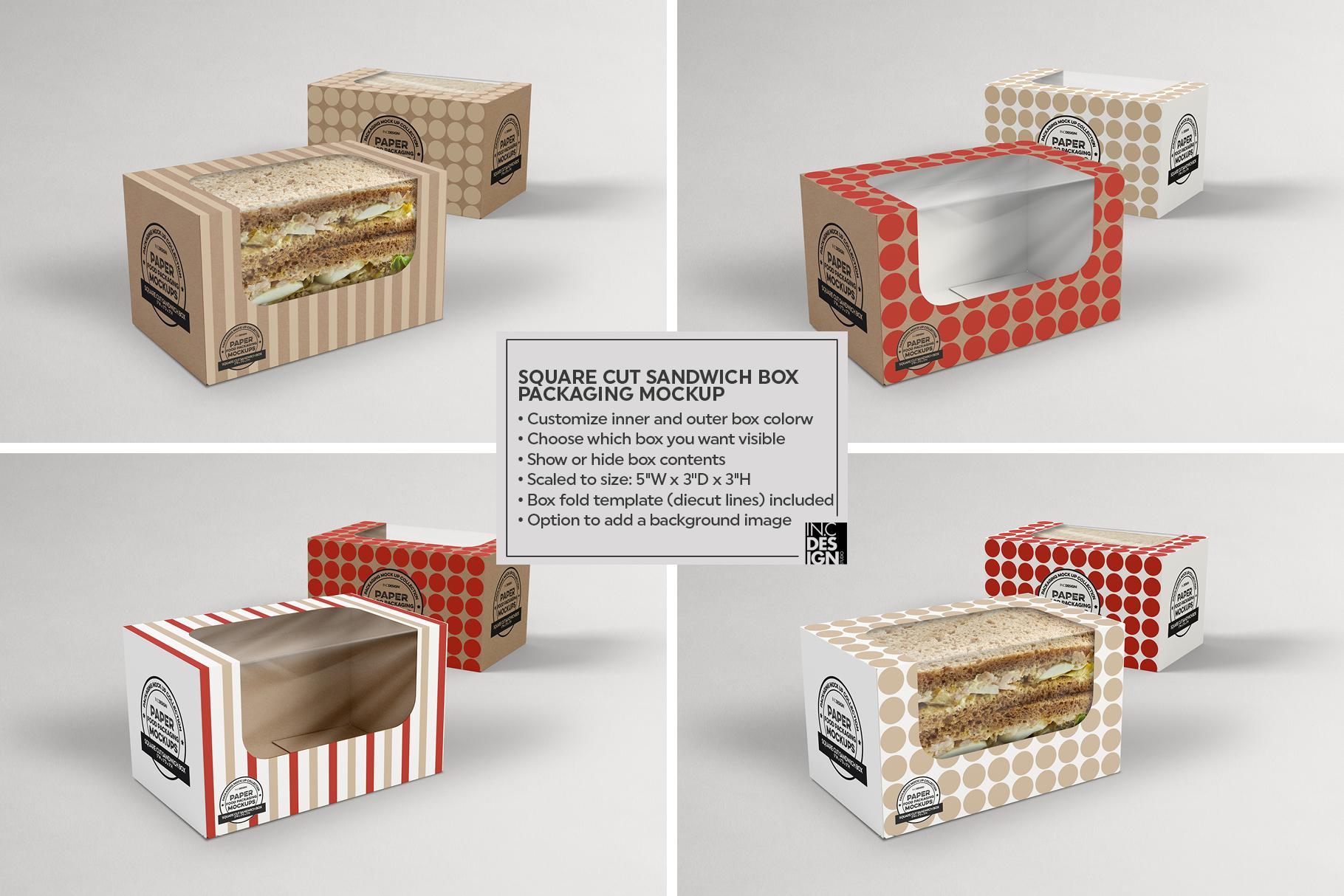 VOL.15 Food Box Packaging MockUps example image 18